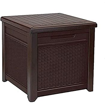 Amazon Com Ra Resin Rattan Deck Box Patio Garden Outdoor