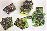 TEENAGE MUTANT NINJA TURTLES HAPPY BIRTHDAY SET for 16 GUESTS CONTAINS 16 INVITATIONS, 16 CUPS,32 NAPKINS,16 BLOWOUTS,1HAPPY BIRTHDAY BANNERS