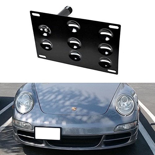 ijdmtoy-no-drill-front-bumper-tow-hole-adapter-license-plate-mounting-bracket-for-porsche-911-924-bo