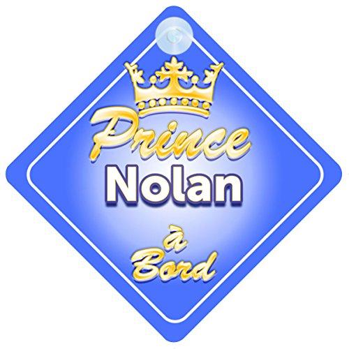 Couronne Prince Nolan Signe Pour Voiture Enfant/Bébé à Bord