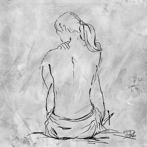 "Nude Sketch II by Patricia Pinto - 30"" x 30"" Premium Canvas Print"