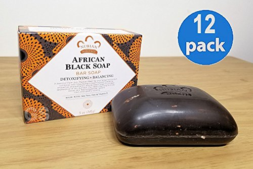Bar Soap, African Blk with Al, 5 oz 12 Pack