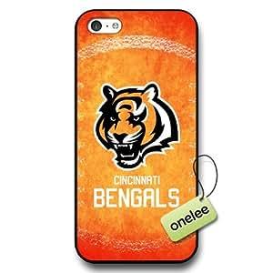 NFL Cincinnati Bengals Team Logo iphone 5c Black Hard Plastic Case Cover - Black