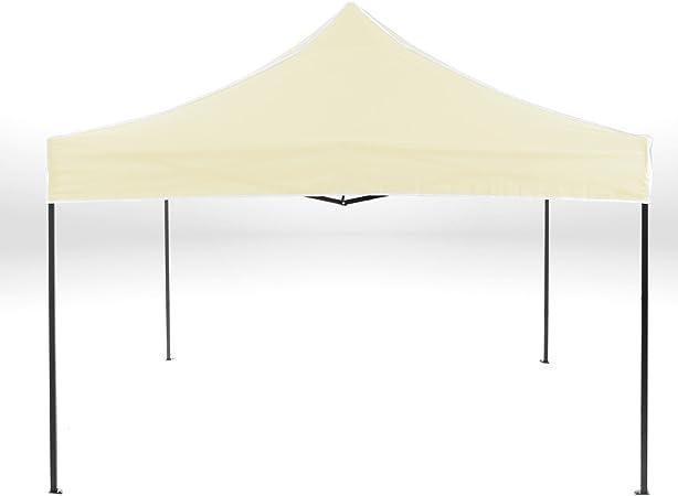 Strattore Carpa Pabellón de Jardín Tienda del Partido Carpa Pabellón para Eventos y Fiestas 3 x 3 m Plegable en Amarillo Claro: Amazon.es: Hogar