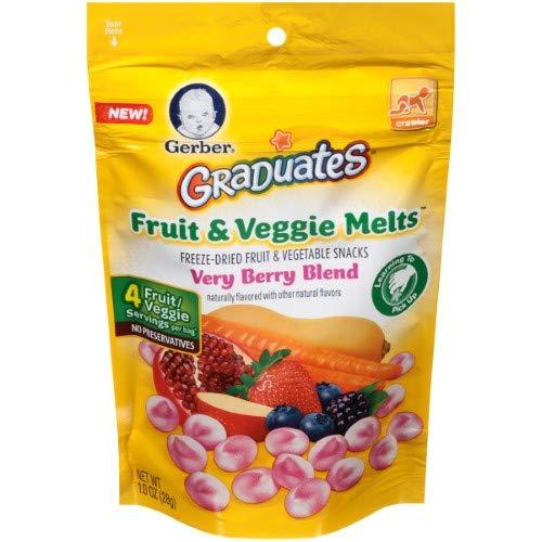 Gerber Graduates Fruit and Veggie Melts Very Berry Blend, 1 Oz (Pack of 12)