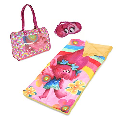 Dreamworks Trolls Sleepover Set with Eyemask, Pink