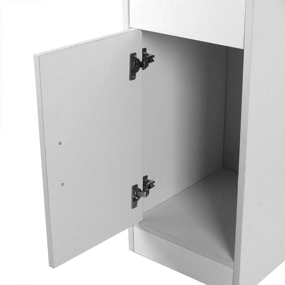 Escritorio de Estudio para Oficina y Hogar 90 x 40 x 75 cm Zerone Mesa de Ordenador Moderna con Caj/ón Blanco