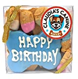 Claudia's Canine Bakery Happy Birthday Assorted Dog Treats in Blue by