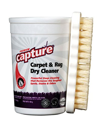 Capture Aller Carpet Dry Cleaner Powder and Brush-Resolve Allergens Smell Moisture from Rug Furniture Clothes and Fabric, Mold Pet Stains Odor Smoke and Allergies Too