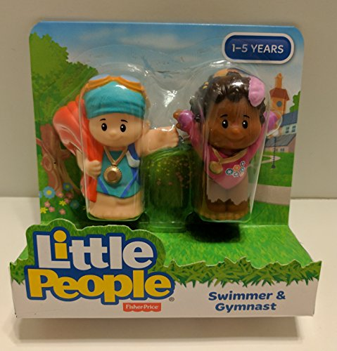 Fisher Price Little People Swimmer and Gymnast Figures