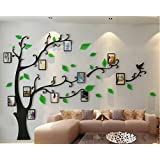 Family Tree with frame 3D Acrylic Wall Decoration Wall sticker Kid Room Living Room Bedroom Decor Wall Art … (Tree at Left side)