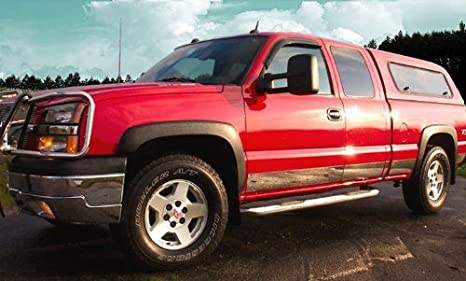 Works with 1999-2006 Chevy Silverado Regular Cab Body Side Molding Trim 1.5 Wide 6PC Made in USA