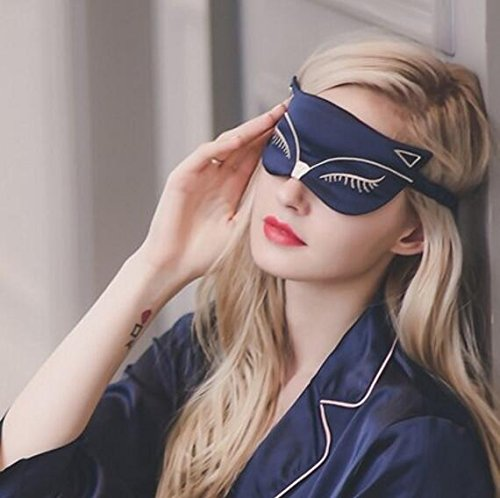 Sleep Mask, Augsep Silk Lightweight Breathable Comfortable Soft Eyeshade with Adjustable Head Straps for Women