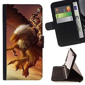 For Samsung ALPHA G850 Case , Águila Pc Juego del misterio del pájaro gigante Gamer- la tarjeta de Crédito Slots PU Funda de cuero Monedero caso cubierta de piel