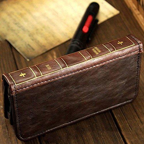 Retro Leather Vintage Book Flip Wallet Card Case Cover For Samsung Galaxy Phones (Galaxy S8)