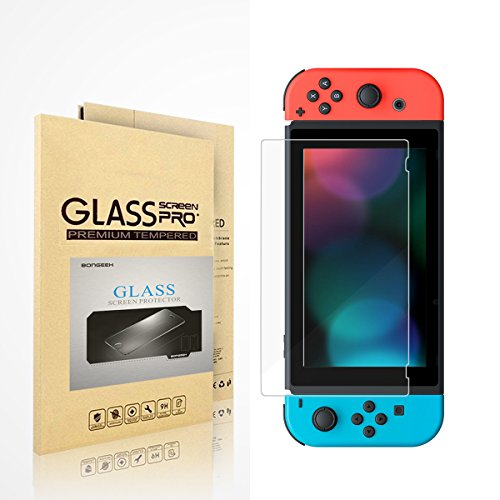 Price comparison product image Nintendo Switch Screen Protector, Bongeek [Matte / Anti-Glare / Anti-Fingerprint] Tempered Glass Film for Nintendo Switch 2017 - [Smooth as Silk]