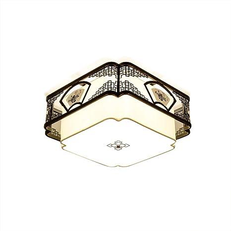 Montaje empotrado Lámpara de techo E27 Enchufe, Cuadrado ...