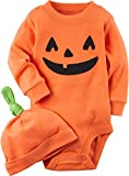 Carter's 2-Piece Pumpkin Hat And Collectible Bodysuit 12 Months