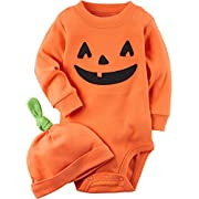 Carter's 2-Piece Pumpkin Hat And Collectible Bodysuit 3 Months