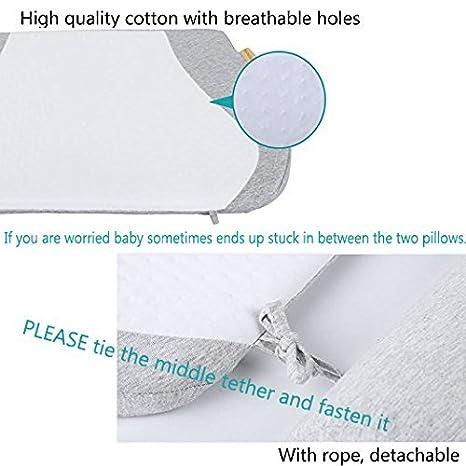 Amazon.com: Almohada para cuna de bebé con cuña reductora de ...