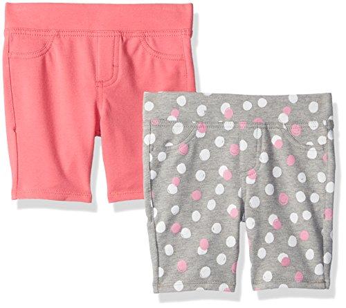 LEE Toddler Girls' Two Pack Bermuda Shorts, Pink/Dot Print, 3T ()