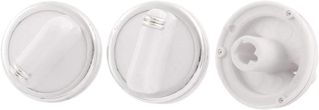 SALAKA 3pcs Plastique Bouton de Commande de Chauffage Chauffe-Eau Bouton de Commande de temp/érature contr/ôle t/ête