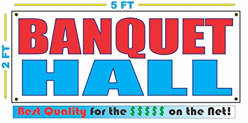 BANQUET HALL All Weather Full Color Banner Sign