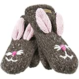 Old Glory - Unisex-adult Beatrix The Bunny Knit Mittens Brown