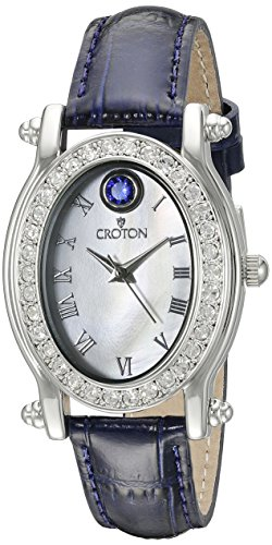 CROTON Women's CN207537BLMP Balliamo September Birthstone Analog Display Quartz Blue Watch Croton Womens Quartz Stone