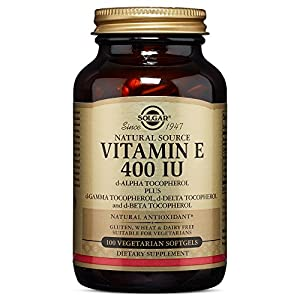 Solgar Vitamin E 400 IU (d Alpha Tocopherol & Mixed Tocopherols) 100 Vegetarian Softgels