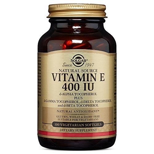 Solgar Vitamin E 400 IU (d Alpha Tocopherol & Mixed Tocopherols) 100 Vegetarian Softgels