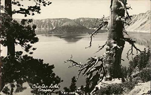 View at Crater Lake, Oregon Crater Lake National Park Original Vintage Postcard from CardCow Vintage Postcards