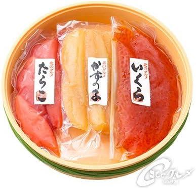 ご贈答 ・ ギフト におすすめ 子宝漬 ( たらこ ・ 数の子 ・ いくら ) ケース 箱入 北海道産 【 海鮮市場 北のグルメ 】魚卵セット