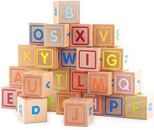 26PCS木製のビルディングブロックを設定し、3-6歳の男の子か女の子のための子供の建設木製玩具 - 教育玩具 (色 : Multi-colored)