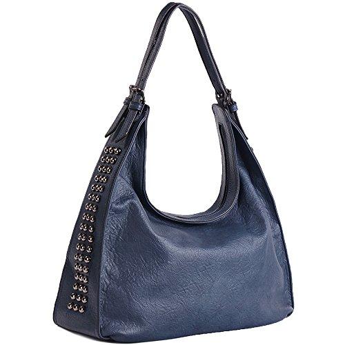 UTAKE Women Handbags Shoulder Tote Top-Handle Crossbody Bags PU Leather Purse Blue by UTAKE