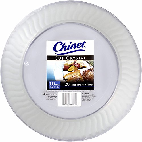 Chinet Crystal Clear Plastic Plates