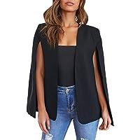 Meilidress Womens Casual Cape Open Front Split Sleeve Bussiness Blazer Jacket Coat