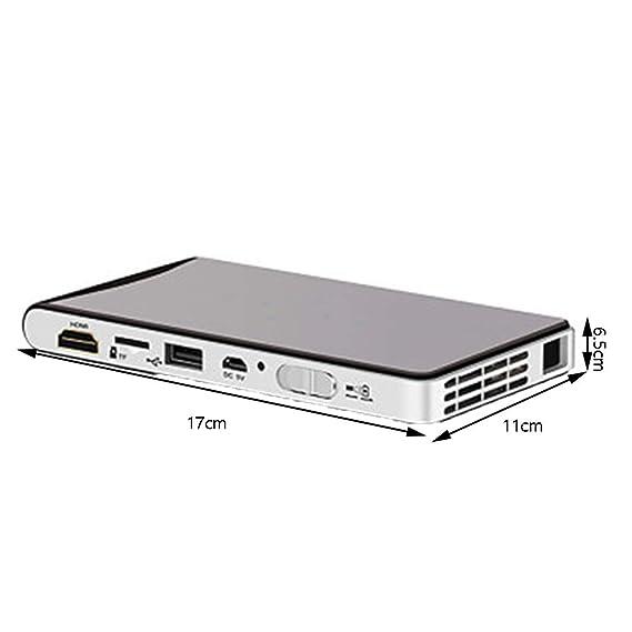 RU Mini proyector portátil proyector, LED 1080p Proyección ...