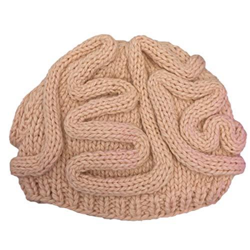 ECYC Baby Warm Beanie Cap Cool Knit Brain Hat Zombie Pinky Hat, Beige ()