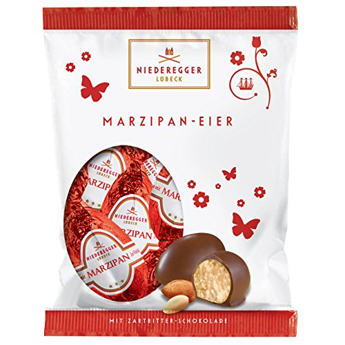 Niederegger Mini Easter Eggs Hearts Dark Chocolate Marzipan 85g