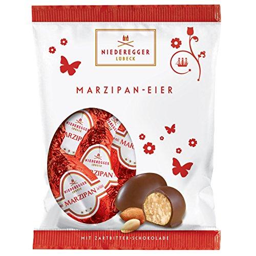 Niederegger Mini Easter Eggs Hearts Dark Chocolate Marzipan 85g