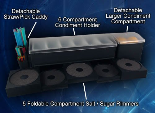 Salt Rimmer Garnish Center w/all Attachments by BARCONIC