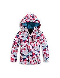Acircle Kids Boys Girls Outdoor WaterproofJacket Fleece Lined Hood Light Windbreaker