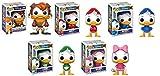 Funko POP! Duck Tales: Launchpad McQuack + Huey + Dewey + Louie + Webby - Darkwing Duck Disney Stylized Vinyl Figure Set NEW