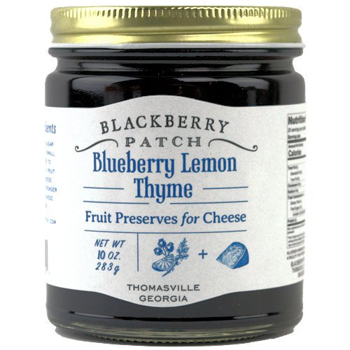 Blackberry Patch, Blueberry Lemon Thyme Fruit Preserves Spread for Cheese (3 pack)