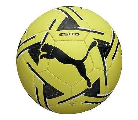 Puma Esito MS balón de fútbol, 08166706-3, Fluo Yellow-Black-Black ...