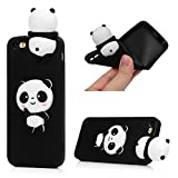 5s cases jelly - iPhone SE Case, iPhone 5 5S Case, 3D Handmade Cute Cartoon Black Panda Jelly Soft TPU Silicone Rubber Slim Fit Shockproof Anti-Scratch Skin Protective Bumper Cover by YOKIRIN