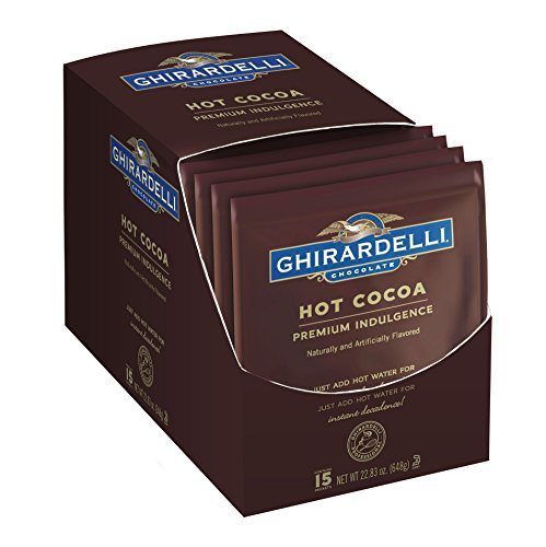 - Ghirardelli Hot Cocoa, Premium Indulgence, 1.5-Ounce Envelopes, 15-Count