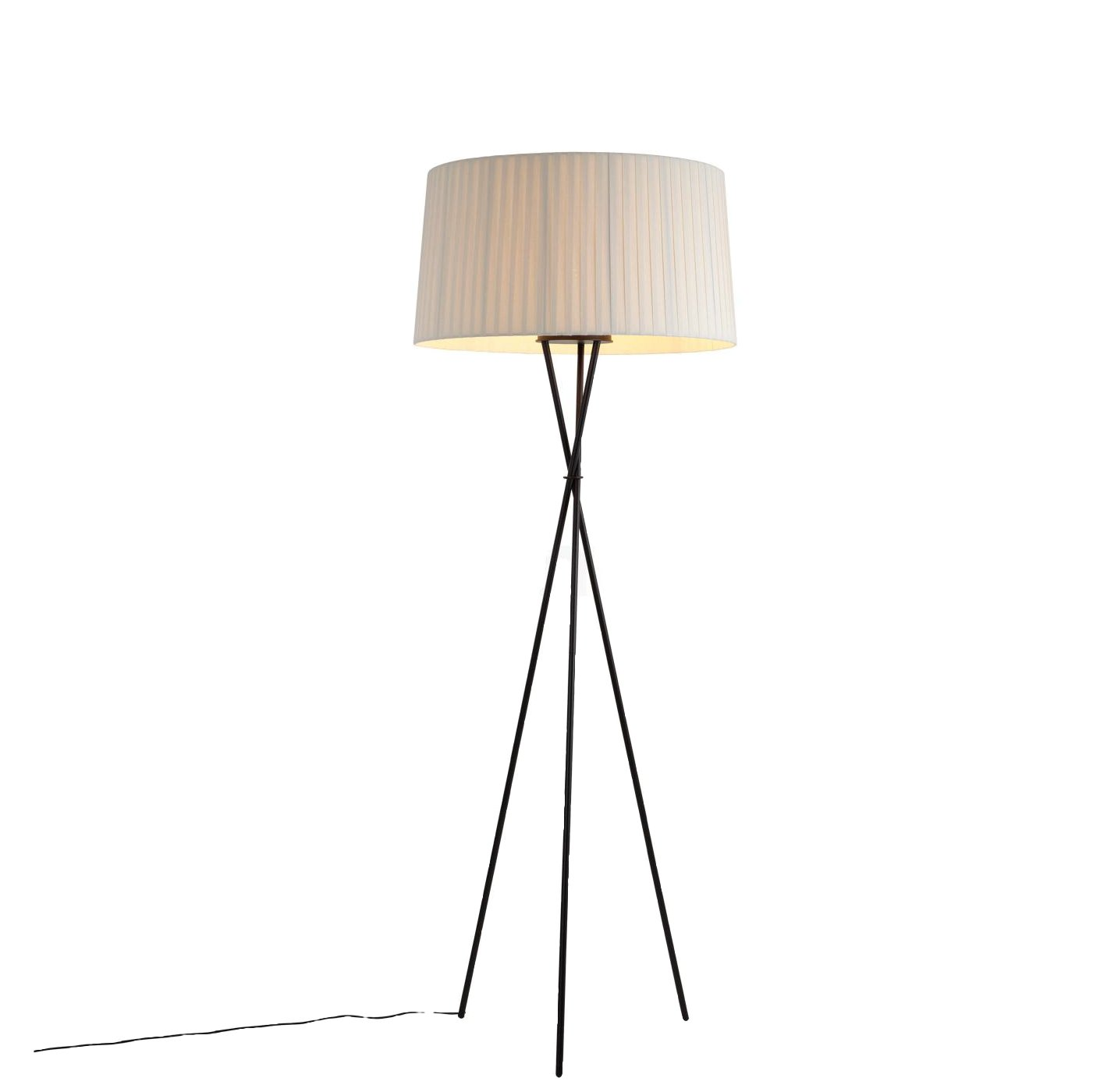 Santa U0026 Cole Tripode G5 Natural Shade Floor Lamp / Light: Amazon.co.uk:  Lighting