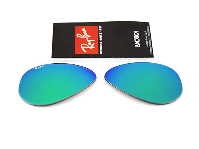 dca519c442b Ray Ban replacement lenses RB3025 Aviator large Metal GENUINE (Green  mirror